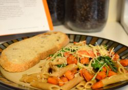 Penne with Balsamic Sweet Potatoes