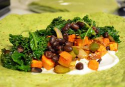 Sweet Potato, Kale & Black Bean Fajitas