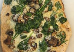 Mushroom, Spinach, and Truffle Oil Pizza